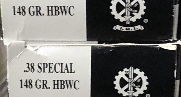 Munitions 38sp HBWC – 115 €